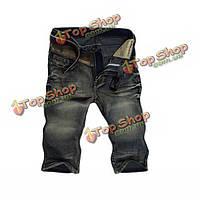 Мужские джинсовые бермуды-шорты