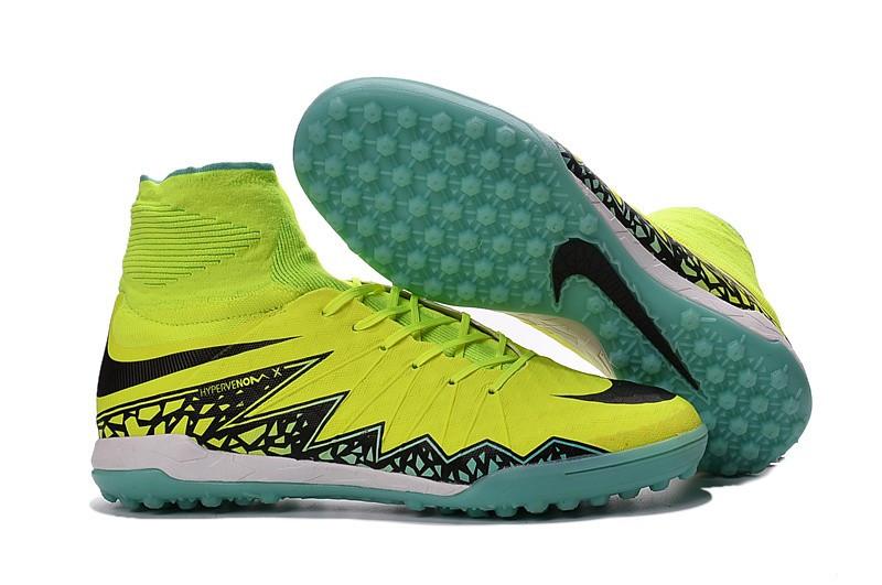 Бутсы многошиповки Nike Hypervenomx Proximo TF volt-black, фото 1