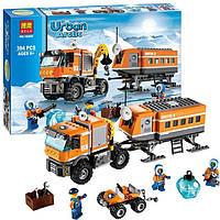 Аналог Лего Сити, набор Bela 10440 Арктическая мобильная станция: 3 фигурки, 394 детали, аксессуары