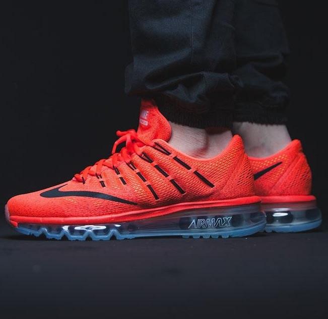 079be447 Кроссовки в стиле Nike Air Max 2016 Bright Crimson/Black-University Red  мужские