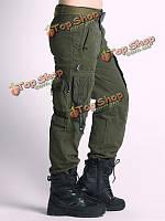 Открытый военный тактический брюки-карго мульти- карманы альпинистские длинные брюки