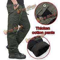 Мужская зимой на открытом воздухе спортивные штаны военные тактические толстые теплые брюки-карго