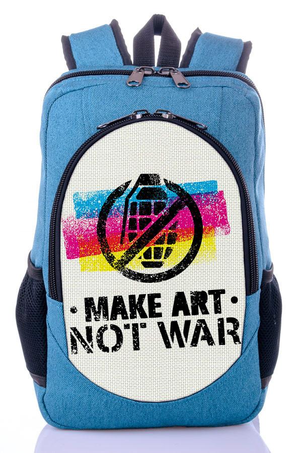 """Рюкзак """"NOT WAR """" (бирюза)"""