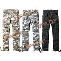 Мужские камуфляжные брюки Карго свободные хлопок