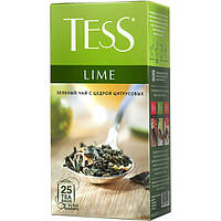 Чай Tess Lime (тесс лайм) зелёный с ароматом цитрусовых 25 пакетов по 1.5г