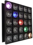 FREE COLOR BLC 2530 RGB Светодиодный световой прибор, матричный блиндер на 25 диодах COB по 30 Вт. Смена цвета. Индивидуальное управление каждым