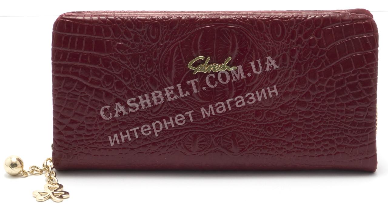 Женский удобный кошелек барсетка вишневого цвета SACRED art.858A-12