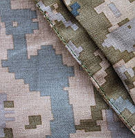 Ткань лен-вискоза пиксель ЗСУ
