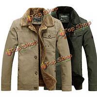 Зима мужские хлопок ватник вскользь куртки плюс размер