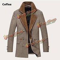 Зима вскользь мужской шерсти пальто моды пыли пальто стиль длинный жакет