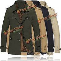 Зимой толстые теплые куртки на открытом воздухе пальто ретро человек куртка военный стиль тонкий парок