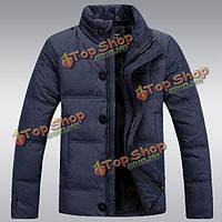 Зимние мужчины пальто куртки вниз спортивной ультра легкий куртка с капюшоном