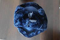 Зимняя шапка форменная искусственный синий мех верх сукно синее