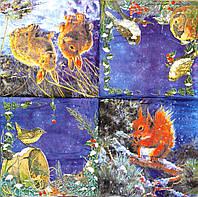 Редкие салфетки декупажные Животные 1895
