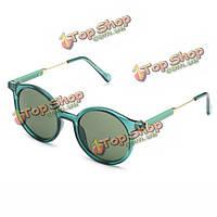 Женщины девушка круглый полный кадр очки ПК объектива Защита от ультрафиолетовых лучей прозрачные старинные очки