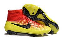 Футбольные бутсы Nike Magista Obra FG Total Crimson/Black/Bright Citrus, фото 1