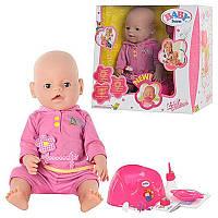 Пупс с горшком Baby Born 8001-4: 9 функций, высота сидя 32 см, аксессуары, коробка 38х36х17 см