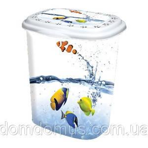 """Корзина для белья """"Рыбки"""" 53 л  Elif Plastik, Турция"""