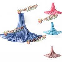 Женщины твердые мягкие шифон вуаля солнцезащитный шарфы палантин длинный пляж обруча шали