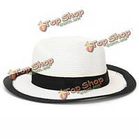 Женщин модные кепки лето солнце пляж дискеты соломы изящные шляпки