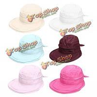Женщины дамы полиэстер широкий большой шляпы летом пляж козырек съемный солнце дышащий колпачок