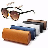 Жесткий солнцезащитных очков очки пу кожаный ящик для хранения очки для чтения очки футляр для очков