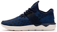 """Мужские высокие кроссовки Adidas Tubular Runner """" Blue"""" (Адидас Тубулар) синие"""
