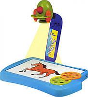 Проектор для рисования детский 6816: 12 фломастеров, 3 круга с рисунками, коробка 36х24х6 см