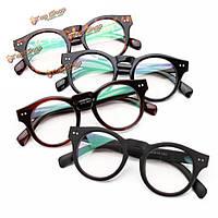 Унисекс мужчины женщины ПК круглые полный кадр очки год сбора винограда прозрачные линзы простые очки зрение очки