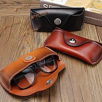 Старинные ручной работы из натуральной кожи коровьей очки кейс причинные очки коробка мешок