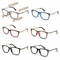 Унисекса женщины мужчины ретро Оправа полный обод прозрачные линзы металлические скольжения очки
