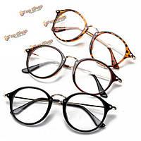 Унисекса старинные прозрачные линзы очки круглой рамке Matal ретро скольжения очки