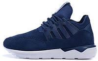 """Мужские высокие кроссовки Adidas Originals Tubular Moc Runner """"Blue"""" (Адидас Тубулар) синие"""
