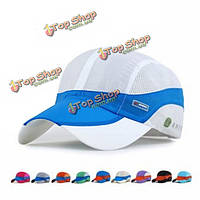 Унисекс сетка полиэстер бейсболка дышащий спорта на открытом воздухе быстро сухой регулируемые пряжки шлем