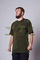 Футболка зеленая хаки с погонами и нагрудным карманом Собственное производство (1)