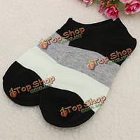 Женщин лодыжки с глубоким вырезом повседневный мягкий хлопок спортивные носки чулочно-носочные изделия