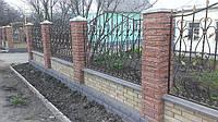 Забор для частного дома Кованый под ключ
