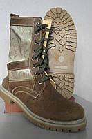 Берцы Нато кожа коричневого цвета с тканевыми камуфляжными вставками атакс серый Собственное производство (1)