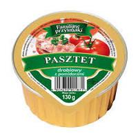 Куриный паштет с томатами, 130 гр. - Familijne Przysmaki Z Drobiem i Pomidorami, фото 1