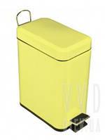 Ведро для мусора с педалью 5л Trento желтое