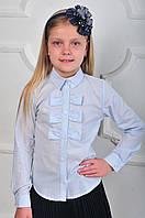 Подростковая блузка белого цвета в школу на девочку.