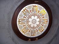 Круглое деревянное евроокно