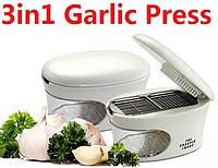 Измельчитель, пресс для чеснока 3 в 1 Garlic Press