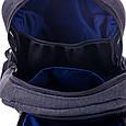 """Подростковый рюкзак """" ROCK HARD"""" (серый), фото 3"""