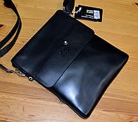 Сумка планшет мужская черная через плечо модная