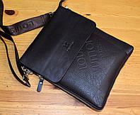 Сумка планшет мужская коричневая через плечо LV