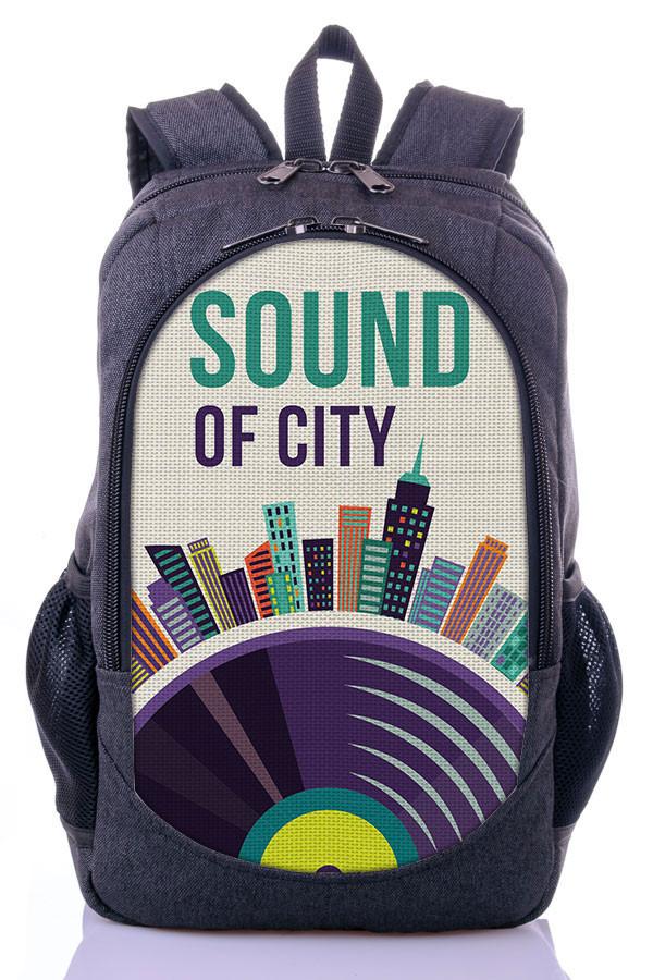 """Подростковый рюкзак """" SOUND OF CITY"""" (серый)"""