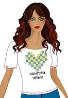 Футболка женская под вышивку бисером ТМ ЮМА, Ф-4