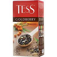 Чай Tess Goldberry (тесс голдберри) чёрный с айвой и ароматом облепихи 25 пакетов по 1.5г