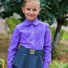Сорочка шкільна з защипами